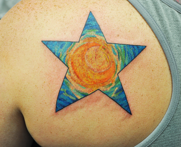 A tattoo based on the Starry Night