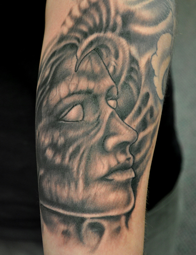 tattoo of a zombie woman