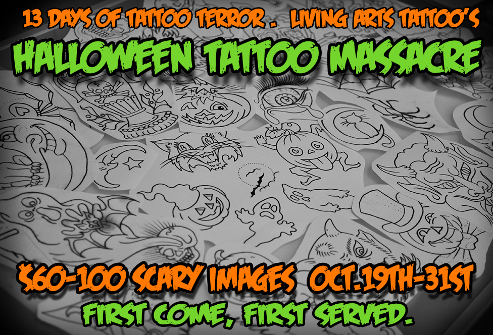 Come on in and get a scary tattoo.